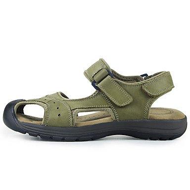 Zapatos de hombre de cuero sandalias Casual Casual talón plano caminar otros Marrón / Verde / caqui US8.5-9 / EU41 / UK7.5-8 / CN42