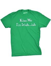 I'm Irish-ish so Kiss Me T Shirt Funny Saint Patricks Day Parade Drinking Tee