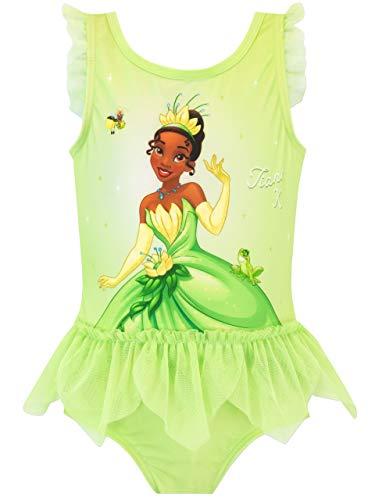 Disney Bañador para Niña Tiana y el Sapo Verde 2-3 Años