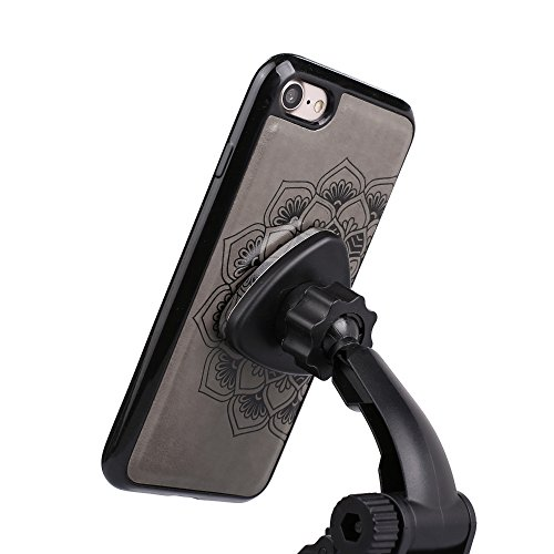 UKDANDANWEI iPhone 6 Plus / 6s Plus Handyhülle,Pu Leder Flip Wallet Schutzhülle Stand Case TPU Innen 2 Combo Separate Karteneinschub und Magnetverschluß Kratzfestes Hülle für iPhone 6 Plus / 6s Plus - Grau