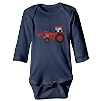 ShixiaoCC Farmer Tractor Baby Jumpsuit Infant Boy Girl Clothes Cotton Romper Bodysuit Onesies Navy