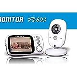 BABY MONITOR ZLMI Babyphone Tragbare Überwachung Integriertes 8 Wiegenlied in der Kamera Automatische Nachtsicht Nachtsicht Entfernung: 15 Fuß