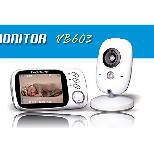 BABY MONITOR ZLMI Moniteur pour bébé Surveillance Portable 8 berceaux intégrés à la caméra Vision Nocturne Automatique Vision Nocturne Distance: 15 Pieds (5 mètres)