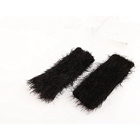 Perdita tastiera di donne maglia Mohair Trim inverno mano più caldo guanti mezze dita dito guanto 2Pcs , d