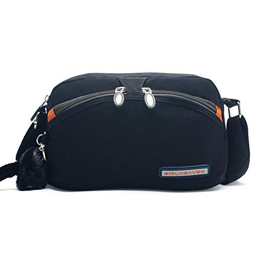 Nylon Messenger Bag/borsa di tela Casual/borsa a tracolla mini semplice Ms.-A D