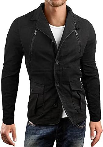 Grin&Bear slim fit Kurzmantel Field jacket Feldjacke Jacke, schwarz, L, AK15