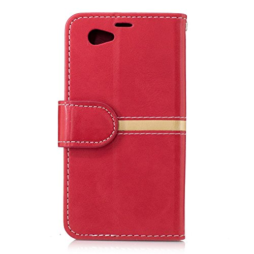 Sony Z1 MINI Case Cover, Premium PU Leder horizontalen Flip Stand Case mit Halter & Wallet & Card Slot & Bilderrahmen für Sony Z1 MINI ( Color : Gold , Size : Sony Z1 MINI ) Gold