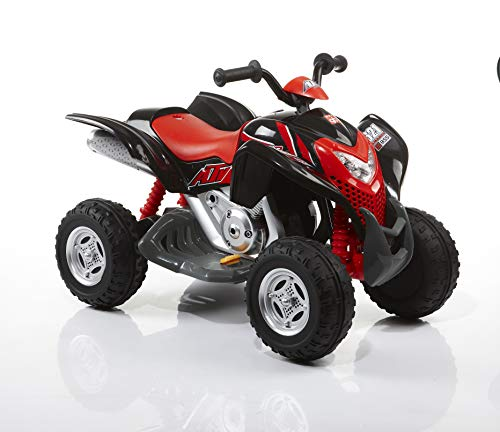 ROLLPLAY Elektro-Quad, Für Kinder ab 3 Jahren, Bis max. 35 kg, 6-Volt-Akku, Bis zu 4 km/h, Powersport ATV, Schwarz