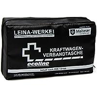 Leina-Werke 11034 KFZ-Verbandtasche Compact Ecoline ohne Klett, Schwarz/Weiß