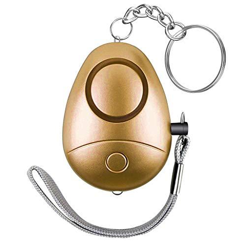 Baslinze Notfall Schlüsselanhänger, 130Db Mini Led-Licht Alarm Handtasche Rucksack Sicherheits Schutz Schlüsselanhänger für Frauen/Kind/Älteren für Reisen/Wandern/Campen/Spazierengehen Hunde