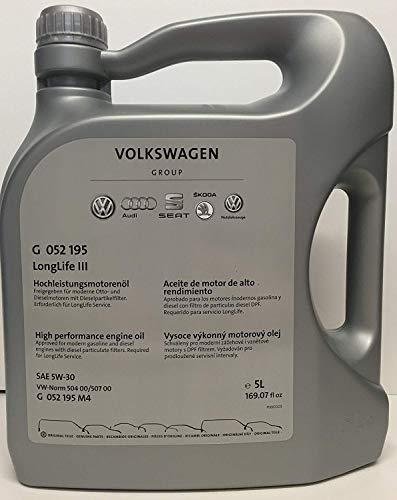 Volkswagen VW Ersatzteile VW Audi Longlife 3 III Motoröl (5W30), Original Audi SEAT Skoda, 5 Liter