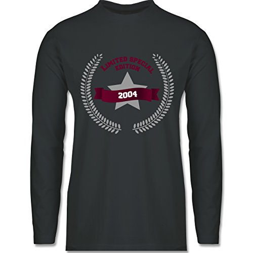 Shirtracer Geburtstag - 2004 Limited Special Edition - Herren Langarmshirt Dunkelgrau