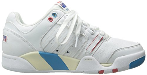 K-Swiss, Sneaker uomo White Blue Danube Rose of Sharon