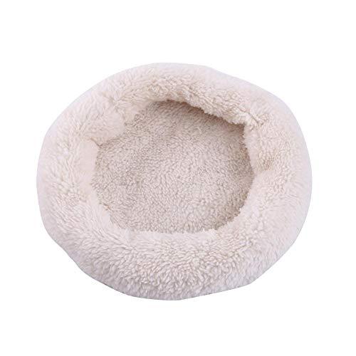 Zerodis Haustier-Hamster-Decke für Haustiere, rund, weich, Nicht fusselend, Fleece-Matte, für kleine Tiere, Winter, warm, Bett für Igelhaus, Meerschweinchen, Eichhörnchen, Ratten, Kaninchen