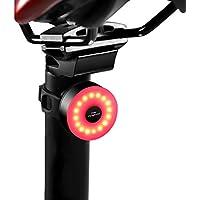 DONPEREGRINO M2 - LED Luce Bici Fino a 90 Ore di Illuminazione, Fanale Posteriore Bicicletta Ricaricabile USB con 5 modalità Fisse Flash