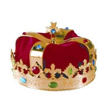 Krone König mit rotem (König Kostüme Home)