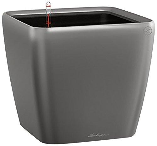 Lechuza Quadro Premium 21 LS Pot de fleurs, Charcoal metallic, 21