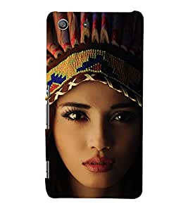 EPICCASE Tribal woman Mobile Back Case Cover For Sony Xperia M5 (Designer Case)