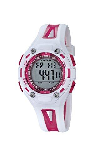 Calypso K5666/3 – Reloj de pulsera Unisex, Plástico, color Blanco