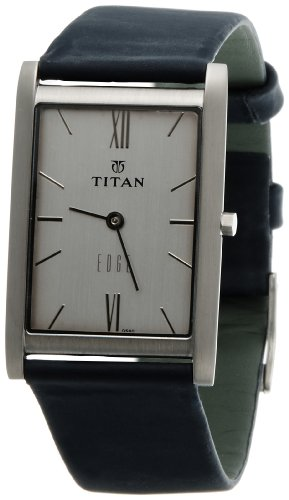 41z0Y4f9rAL - Titan NC1043SL01 Edge Silver Mens watch