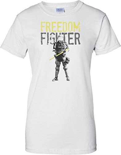 Freedom Fighter - Police State - Ladies T Shirt - White - 10 -