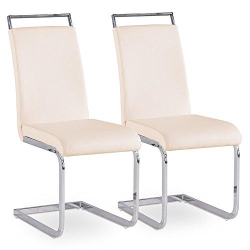 2er Set Esszimmerstuhl Küchenstühle Polsterstuhl Freischwinger Stuhlgruppe Farbwahl