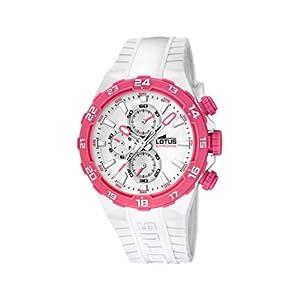 Lotus 15800/6 – Reloj analógico de Cuarzo para Mujer con Correa de plástico, Color Blanco