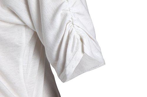 ELFIN® Femmes Sweat-shirts Rouge Sexuel Lèvre T-shirt Manches Longues Imprimé Pull-over à Epaules Dénudée Rouge 1