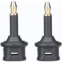 fiekcor-1pair 180Grado 3,5Cable de adaptador TOSlink a 3,5mm de fibra óptica Digital Cable de audio adaptador
