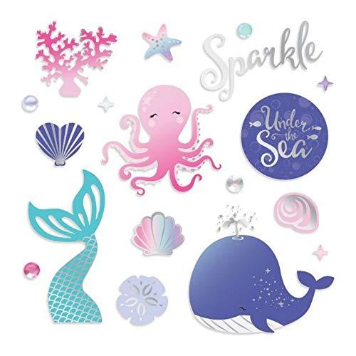 Creative Memories Sticker, Motiv: Meerjungfrau, foliert, 30 Folien und 55 Epoxid-Steinchen (Scrapbooking Sticker Meerjungfrau)