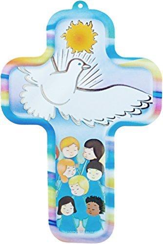 Croix-Crucifix-avec-enfant-et-colombe