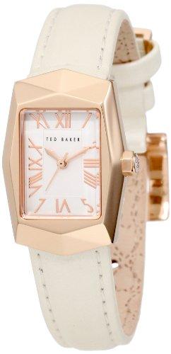 Ted Baker TE2082 - Reloj para mujeres, correa de cuero color crema