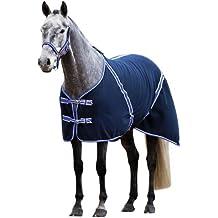 Coperta per cavalli RugBe Classic in pile, per il trasporto e il sudore
