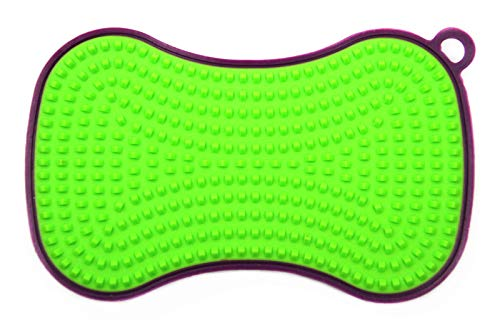 Kochblume SCRUBBY 22972 (lila - Limette), Silikon, 14,5 x 8,5 x 2,3 cm,
