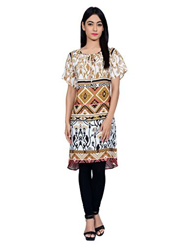 Juniper Women's A line Kurta (30497BROWN_Large)