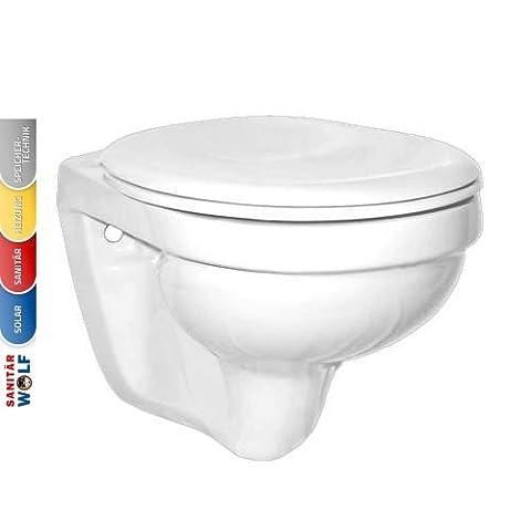 SAVAL Tiefspül-Wand-WC, 35x55 cm made by Gustavsberg, pergamon