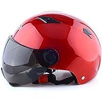 GaLon Casco de Ciclismo Casco de Coche eléctrico Casco de ciclomotor Casco de Verano Casco de Verano Unisex (Color : Red)