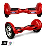Markboard gyropode 10 Pouces Bluetooth , Gyropode Scooter Électrique Auto-équilibrage (Rouge)
