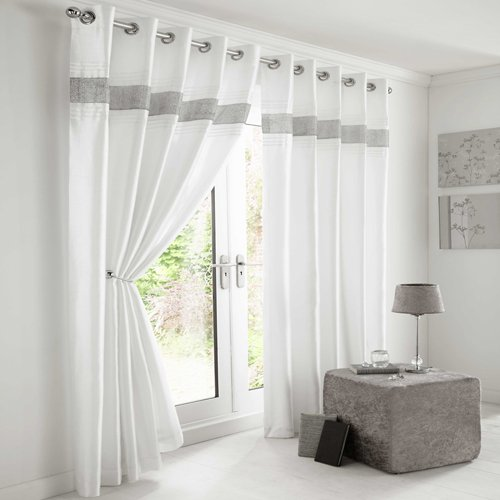 White and silver curtains for Ready made blinds ikea