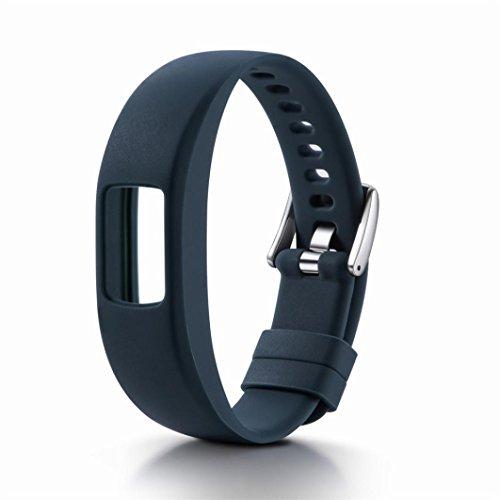 Uhrenarmbänder, erthome Silikon Ersatz Handgelenk Band Strap Einstellbare Bänder für Garmin vivofit 4   Watchband Replacement   Ersatz Armband (Marine (230mm)) - Garmin 20 Marine