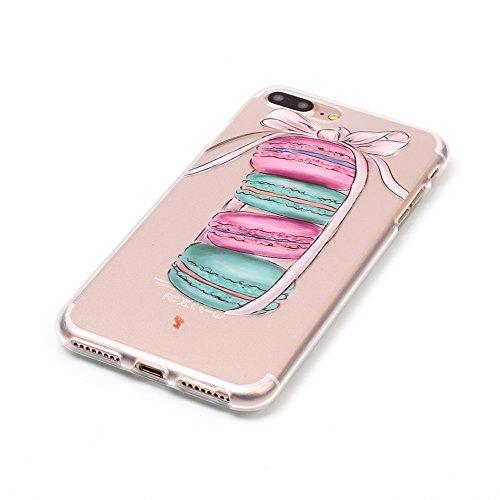 Custodia iPhone 8,Cover iPhone 7,Mo-Beauty® Colorato Creativa Cover Ultra sottile Silicone Morbido Flessibile TPU Gel Protettivo Skin Caso Custodia Protettiva Shell Case Cover Per Apple iPhone 7 (2016 Torta #1