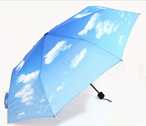 GTWP GT Umbrella Drei Fold Sun Rain Umbrella manuell Umbrella Anti-UV Waterproof Parasol Regenschirm Sunshade