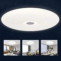 Plafón Led Techo 24W, Lámpara de Cielo Estrellado 2200LM 4000K Blanca Natural para Dormitorio Habitación Infantil Cocina Salón, Redonda 40CM Ultra Fina