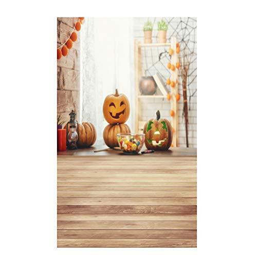 Mobestech 90x150 cm Foto Hintergrund, 3D Halloween Kürbis Foto Hintergrund Kinder Baby Familie Foto Hintergrund (DZ-813)