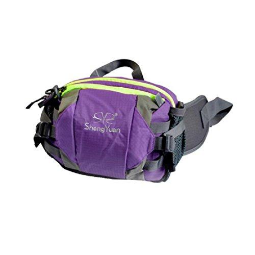 LF&F Backpack Camping outdoor Zaini Borse Tasche all'aperto per l'arrampicata borse a tracolla uomini e donne universali tasche portatili multifunzionali equitazione campeggio zaino da viaggio per il  purple