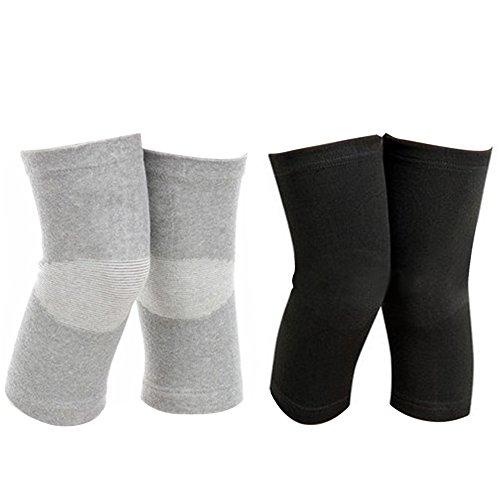 2 Paar Atmungsaktive Elastische Knie Beinmuschel Pad Wärmer Klammer Unterstützung Für Sport Laufen Yoga Tanz