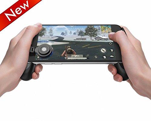 FourPlusOne PUBG Mobile Game Joystick Controller Grip Case Ergonomisches Design Game Grip Griff Controller Halter Ständer Joypad für iPhone Android Smartphone schwarz Black 003