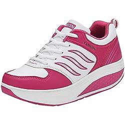 iZZB Baskets La Mode Dames Chaussures de Sport Fitness Sneakers en Cours D'exécution Filles Confortable 2019 (Rouge, 40 EU)