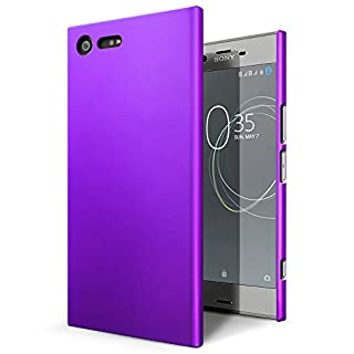 SLEO Sony Xperia XZ Premium Case - Rubberized Hard PC Back Case Cover for Sony Xperia XZ Premium - Purple