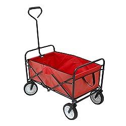 Oypla Heavy Duty Foldable Garden Trolley Folding Cart Wagon Truck Wheelbarrow